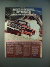 1984 Ford Pickup Truck Ad - Most Powerful of 'em All