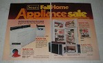 1978 5-page Sears Appliance Ad - Kenmore Dryer, Microwave, Refrigerator, Freezer