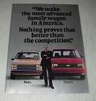 1985 3-page Dodge Caravan and Plymouth Voyager Minivan Ad - Most Advanced