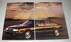1985 4-page Chrysler LeBaron GTS Car Ad - Outperforms BMW 528e and Mercedes 190E
