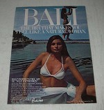 1978 Bali Bras 3-page Ad - Self Expression, Go Lightly, Natural Advantage