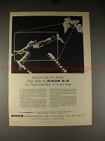 1956 Nikon S-2 Camera Ad - Fastest Handling in World!!