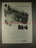 1969 Leica M-4 M4 Camera Ad - While Others Fumble!!!
