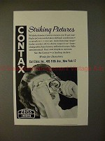 1955 Contax Camera Ad - Striking Pictures, NICE!!