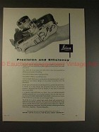 1956 Leica M-3 M3 Camera Ad - Precision and Efficiency!