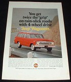 1966 Jeep Wagoneer Ad, Twice the Grip on Slick Roads!
