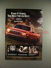1994 Ford F-series Pickup Truck Ad - Never Rest!