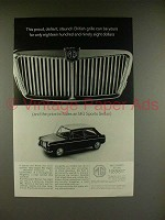 1963 MG Sports Sedan Car Ad - Proud British Grille