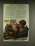 1944 WWII Nash Kelvinator Ad w/ Soldiers - Be Home