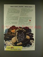 1944 WWII Nash Kelvinator Ad w/ Sailor - Bear Down