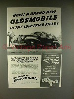 1939 Oldsmobile Sixty Car Ad - The Low-Price Field
