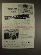 1958 Aires 35-IIIL Camera Ad - Viewfinder, Finest Ever!