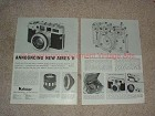 1958 2-page Aires V Camera Ad - Announcing New Aires V!