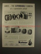 1959 Aires V & IIIC Camera Ad - Expandable, Spendable!