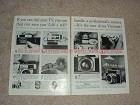 1959 2pg Aires Viscount Camera Ad - If You Can Dial TV!