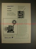 1955 Bolex M-8 Movie Projector Ad - Protect Your Films!