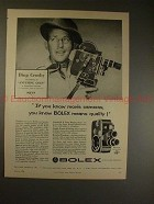 1956 Bolex B-8 & C-8 Movie Camera Ad with Bing Crosby!!