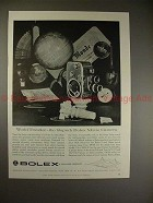1957 Bolex 8 Movie Camera Ad - World Traveler, Superb!!