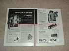 1958 2-pg Bolex H-16M & H-16T Movie Camera Ad - NICE!!