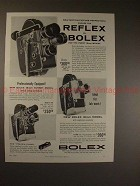 1959 Bolex H-16 Reflex, H-16T, H-16M Movie Camera Ad!!