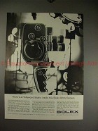 1960 Bolex D-8L Movie Camera Ad - Hollywood Studio!!
