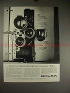 1961 Bolex H-16REX Movie Camera Ad - Get in the Script!