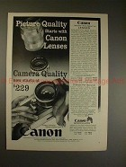 1958 Canon VT-Deluxe Camera & Lenses Ad - Quality!!