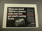 1969 Canon TL-QL Camera Ad - Get What's Coming to You!