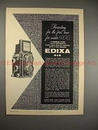 1956 Edixa 6x6 Camera Ad - For First Time Under $100!!