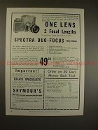 1958 Exakta Camera, Spectra Duo-focus 140/230mm Lens Ad