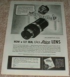 1944 Leica Viewfinder & 127mm lens WWII Ad!!!