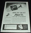1945 Leica Copying Attachment WWII Ad, NICE!