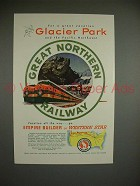 1953 Great Northern Railway Ad - For a Great Vacation