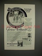 1930 Milwaukee Road Train Ad - Moderate in Cost