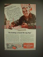 1945 Milwaukee Road Train Ad - Looking for my Boy
