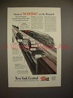 1944 New York Central Mohawk Trains Ad - On the Warpath