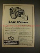 1961 Ihagee Exakta VXIIa Camera Ad - Low Prices!!