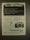 1958 Konica IIIa Camera Ad - Said it Couldn't be Done!!