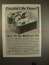 1959 Konica IIIa Camera Ad - Couldn't be Done?!?