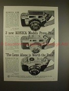 1959 Konica IIIm, IIIa and Konilette 35 Camera Ad!!