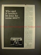1963 Konica Auto-S Camera Ad, Who Said Couldnt be Done!