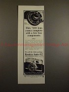 1966 Konica Auto-S2 Camera Ad - The $110 Lens Complete!