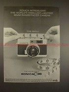 1969 Konica C35 Camera Ad, Worlds Smallest Rangefinder!
