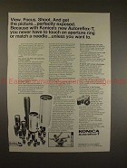 1969 Konica Autoreflex-T Camera Ad - View Focus Shoot!