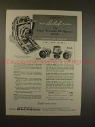 1956 Linhof Super Technika 23 Special Camera Ad, NICE!!