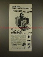 1960 Linhof Super Technika IV Camera Ad - Unequalled!!