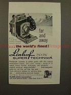 1960 Linhof Super Technika 23 Camera Ad - Far and Away!