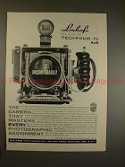 1963 Linhof Super Technika IV Camera Ad - Incomparable!