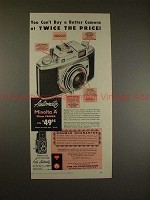 1956 Minolta A and Autocord Camera Ad - Cant Buy Better