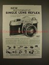 1959 Minolta SR-2 Camera Ad - New Automatic SLR!!